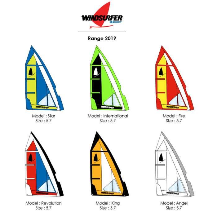 Windsurfer colors 2019