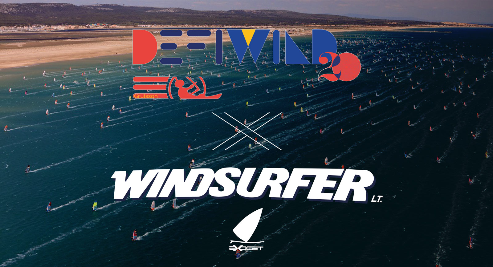 The windsurfer at the 2020 edition of the Wind Challenge